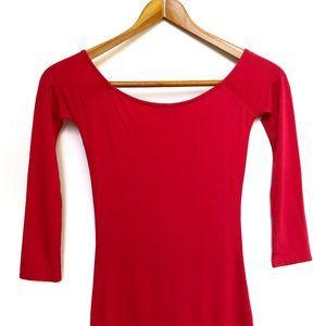 ASOS Dresses - ASOS | Red 3/4 Sleeve Bodycon Dress